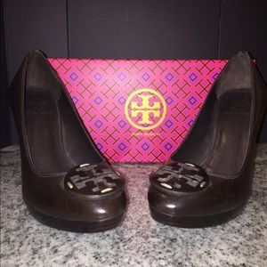 Tory Burch brown leather heels